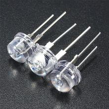New Arrival 20pcs 8mm Straw Hat LED Water Clear Light Emitting Diodes Lamp Kit DIY LEDs Set Blue Green Yellow Red White
