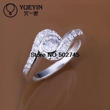 Top quality Silver Plated & Stamped 925 wave stone rings for women fine jewelry stone jewelry vintage wedding rings