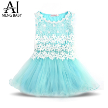 Ai Meng Baby Girl Dress Fairy Lace Girl's Tutu Dresses For Wedding And Party Kids Boutique Clothing Little Girl Birthday Outfits