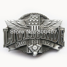 Distribute Vintage Original Ride to Live Motorcycle Ride Driver Biker Belt Buckle BUCKLE-AT068AS Free Shipping