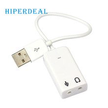 Sound Card Adapter 3D USB 2.0 Virtual 7.1 Channel Audio Sound Card Adapter For Laptop PC WIN 7 Mac 0321 drop shipping