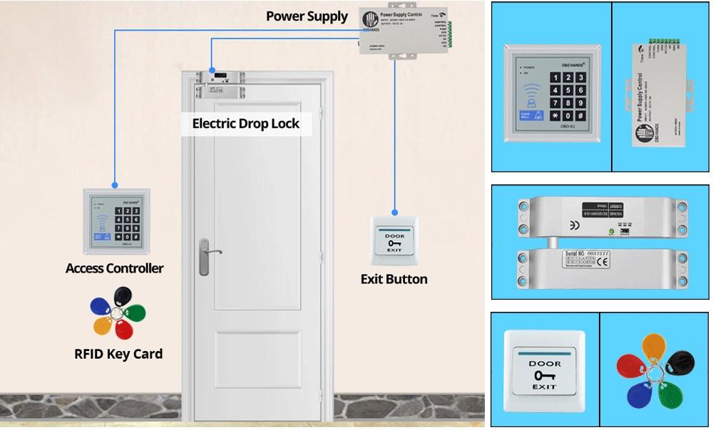 Obo Hands Rfid Access Control System Kit Set With Power ... on tractor key, ford key, honda key, radiator key, flywheel key, wiring diagrams for peterbilt trucks, valve key,