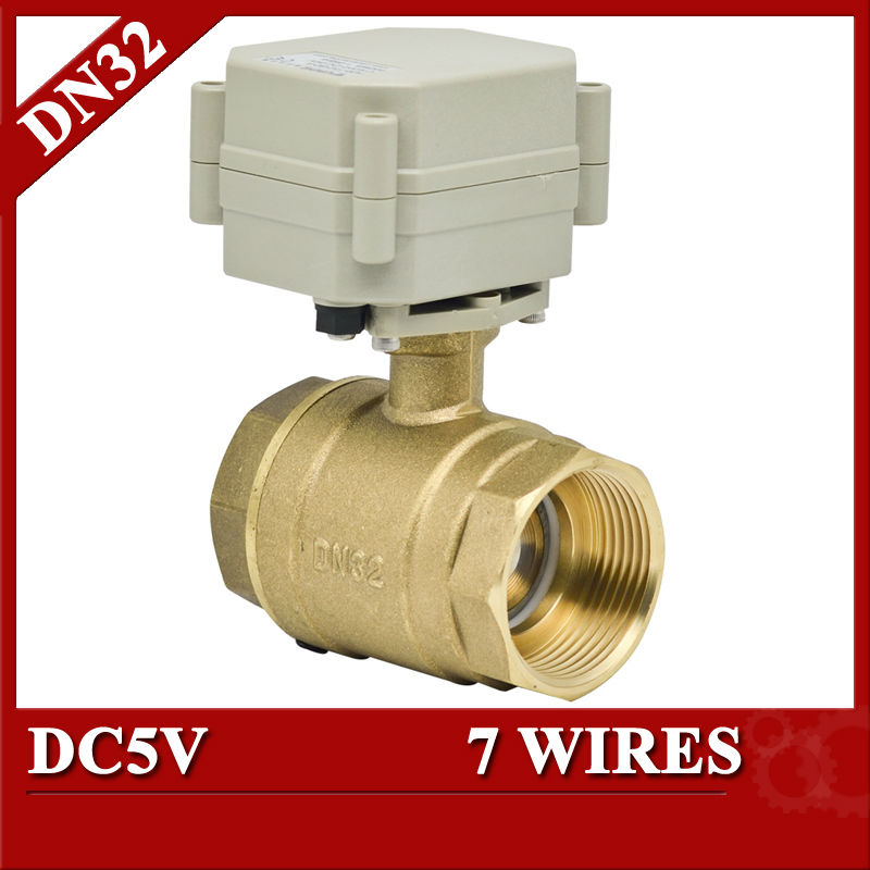 1 1/4 2 way brass electric ball valve, 7 wires control electric control valve, DN32 Electric Automated valve<br><br>Aliexpress