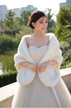 Top Selling Retail Warm Faux Fur Ivory Bolero Wedding Wrap Shawl Bridal Jacket Coat Accessories Grey Black Red White Burgundy