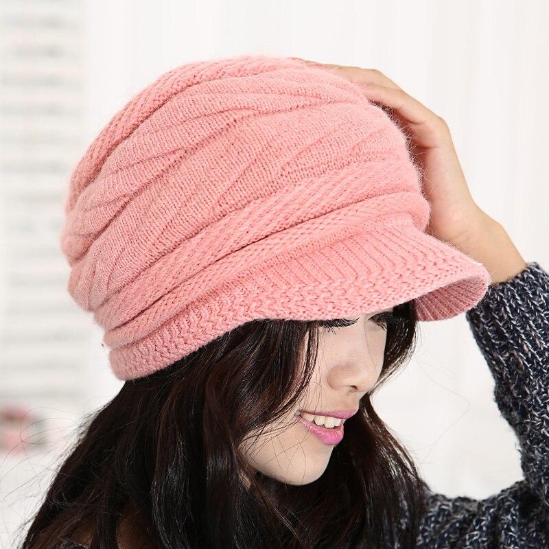 Rabbit fur hat female winter autumn and winter thermal womens hat female knitted hat fashion capÎäåæäà è àêñåññóàðû<br><br><br>Aliexpress