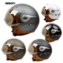 upgrades BEON B-110A motocross half face Helmet for men women,white black Gray motorcycle MOTO electric bicycle safety headpiece