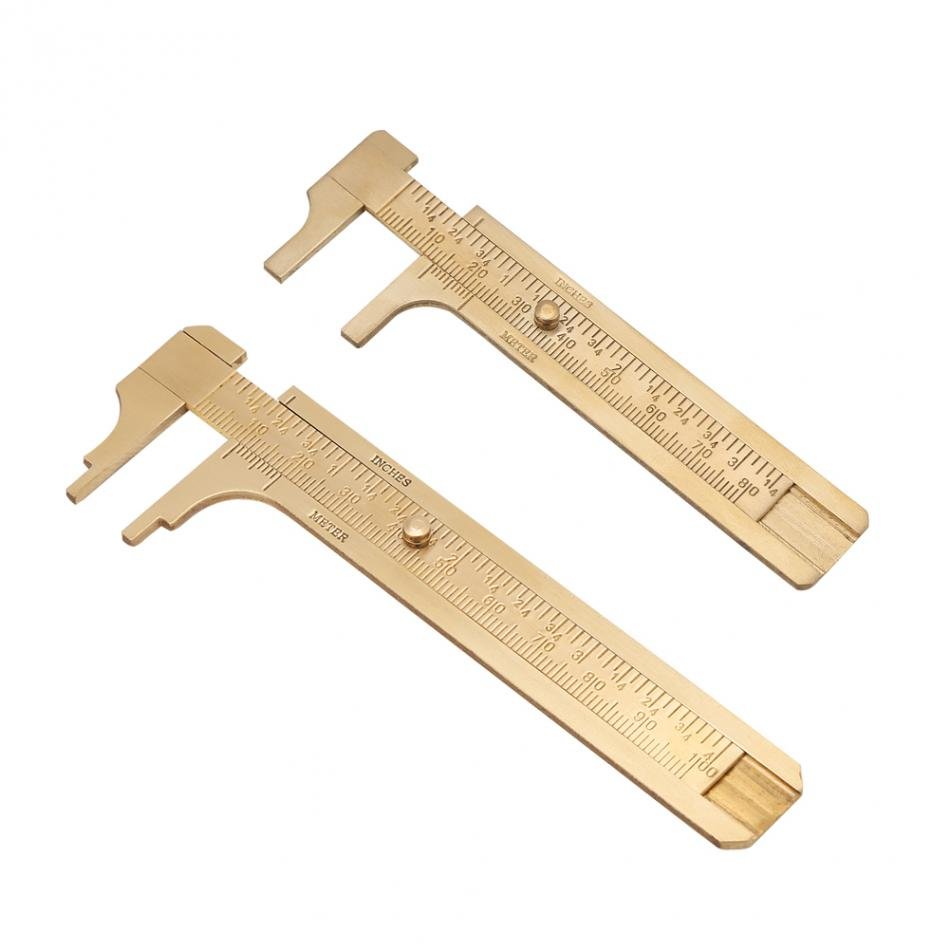 A High Quality 80mm Copper Alloy Metal Vernier Caliper Gauge Micrometer Measuring Ruler Tool