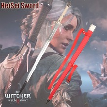 Cosplay The Witcher 3: Wild Hunt Cirilla Western Sword Game Amine Stainless Steel Sharp Edge Real Weapon