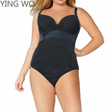 Big Size Women Firm Control Body Shaper Adjustable Straps Tummy Trimmer Body Girdles Postpartum Bodysuit Butt Lift Shapewear 5XL(China)