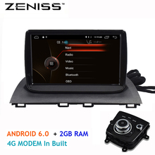 ZENISS 9inch  Android 6.0 4G LTE modem For New Mazda3 mazda 3 Axela 1Din Car Radio Car GPS Navigation support TPMS