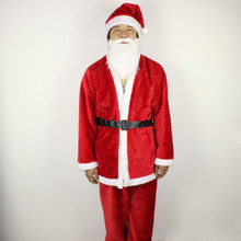 Good Quality Coral fleece fabric Mens Christmas Santa Claus Costumes For Men Adult  Santa Claus Costume Clothes Suit