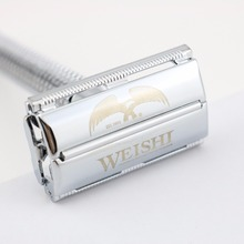 WEISHI Safety Razor Butterfly Long handle Double-edged Shaving Razor 9306FL 9306CL 9306IL Silvery Gun color Bronze NEW(China)