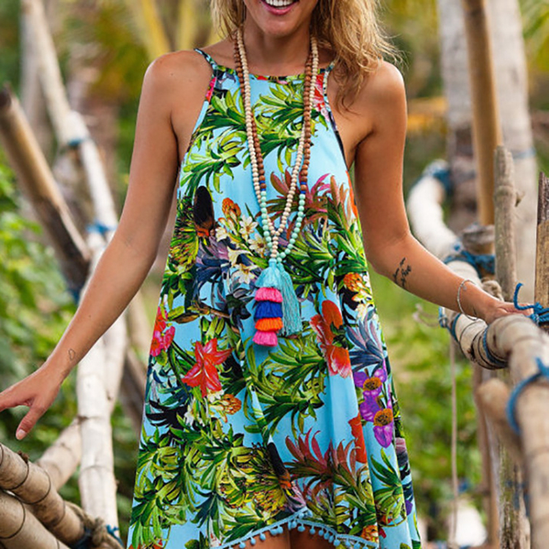 LASPERAL Summer Dress 2017 Female Women Dress Summer Style Vestido De Festa Sundress Plus Size Women Clothing Robe Beach Dress 5