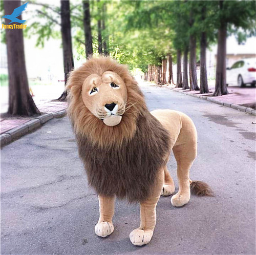 Fancytrader 43\'\' Giant Plush Stuffed Simulation Lifelike Lion King Simba Can be Rided by Kids Great Gift FT90284 (8)