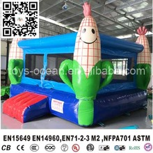 Yellow corns inflatable jump castle for kids, corn bounce house for sale