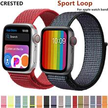 Sport loop Strap For Apple Watch band 42mm 38mm apple watch 4 3 band iwatch band 44mm 40mm correa pulseira 42 44 nylon watchband(China)