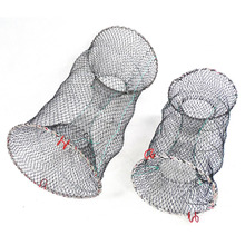 fishing cast nets china fish crab trap network cages shrimp nylon netting Automatic Fishing Cage Foldable Trap Cast Net Folding
