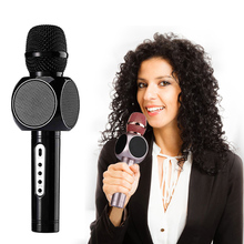 Multi Karaoke Portable Wireless Bluetooth Microphone with Mic Speaker Condenser Fashion Home Mini KTV Sing Player for Phone(China)