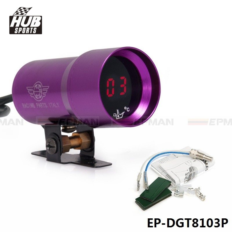 Hubsports - Micro Digital Oil Temperature Gauge  37mm Purple For TOYOTA SUPRA MA70 MK3 7M-GT/7MGTE turbo 3.0L HU-DGT8103P
