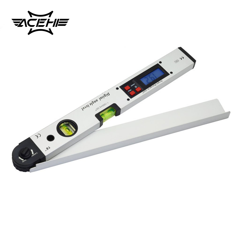 ACEHE 400ML 0-225 degree Digital Angle Level Meter Gauge 400mm 16inch Electronic Protractor Digital Display Angle Meter<br>