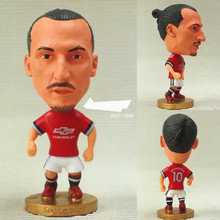 Soccerwe 2017-18 Season Series 6.5 cm Height Resin Soccer Star 10 United Ibrahimovic Doll Red(China)