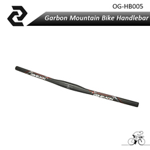 OG-EVKIN 3k carbon mtb handlebar mountain bike carbon rise handle bar 620/640/660mm(China)