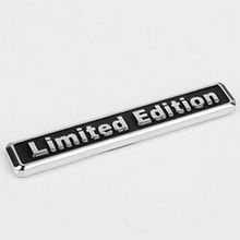 Mayitr Metal 3D Black Limited Edition Sticker Universal Car Auto Body Emblem Badge Sticker Decal Chrome Emblem Car Styling