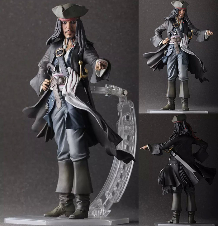 Crazy Toys Pirates of the Caribbean Jack Sparrow PVC Action Figure Collectible Model Toy Doll 12 30cm KT1223<br>