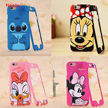 Nephy Mickey Minnie Mouse Stitch 360 Degree Cartoon Design Coque For iPhone 7 7Plus Case Hard Back Cover For apple iPhone7 Plus