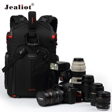 2017 Jealiot Multifunctional Professional Camera Bag laptop Backpack waterproof shockproof Video Photo Bags case for DSLR Canon