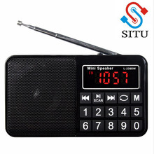 Mini Portable FM Radio Support AM AM SW Full Range of Radio Build Long Antenna Support TF Card for Camping Hiking Outdoor Sports(China)