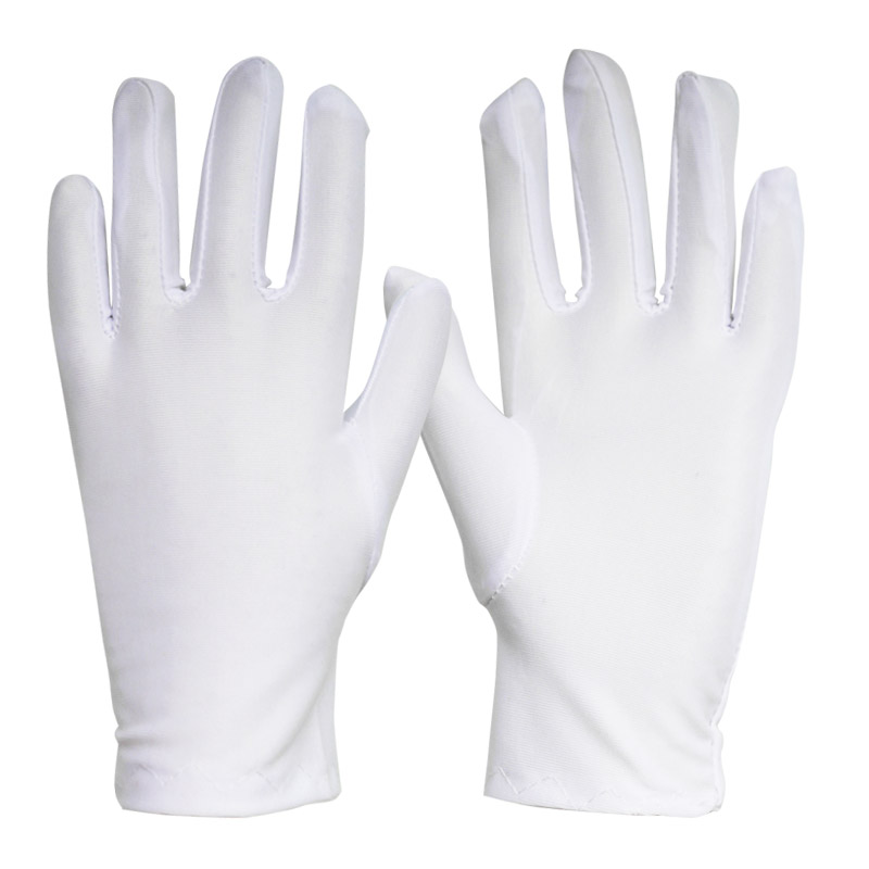 Thin section stretch tight spandex gloves ceremonial white men and women sports gymnastics performances<br>