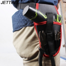 JETTING 1Pcs High Quality Portable Drill Screwdriver Holder Pouch Cordless Tool Oxford Drill Waist Bag For Hand Tools