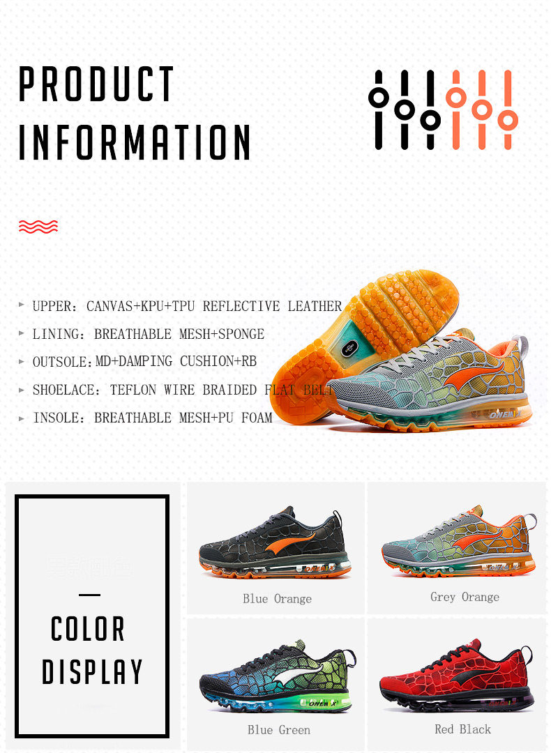 Onemix Men's Running Shoes Breathable Zapatillas Hombre Outdoor Sport Sneakers Lightweigh Walking Shoes Plus Size 39-47 Sneakers 19