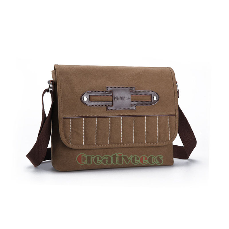 New Mens Casual Canvas Leather Travel Briefcase Laptop Messenger Shoulder Cross body Business Bag<br><br>Aliexpress