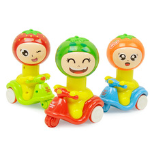Lovely!!!Cartoon Mini Fruit Motorcycle Toys Pressure Inertia Car Baby Education Toys Children Birthday Gifts Color Random(China)
