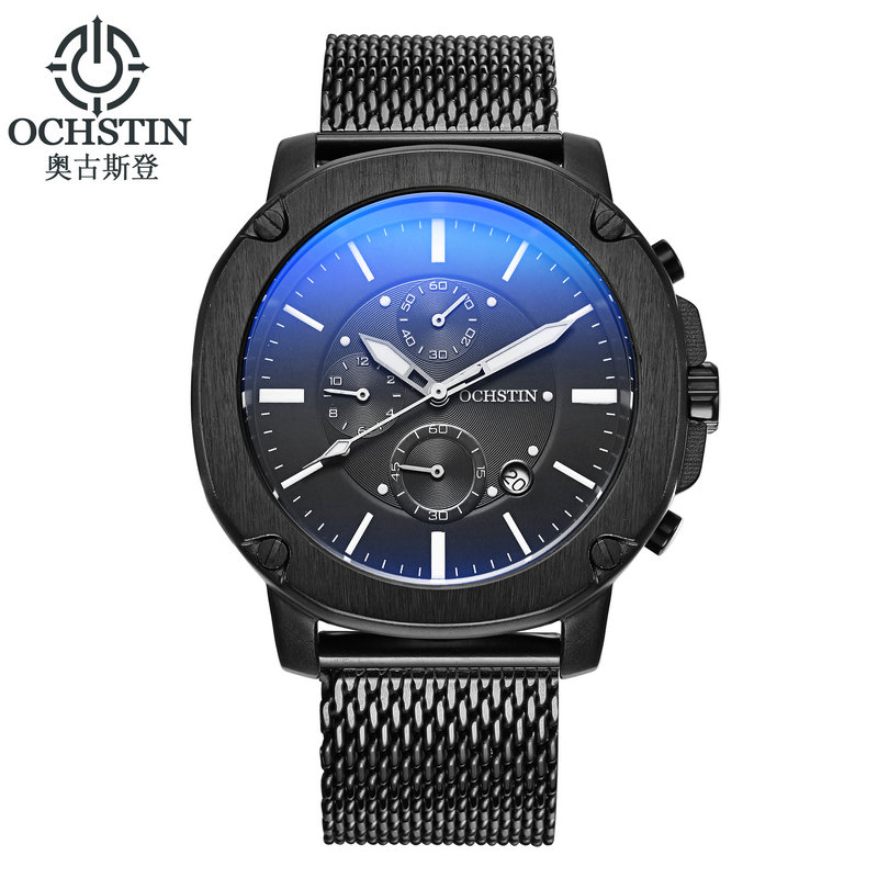 2017 Luxury OCHSTIN Chronograph military Watches Men Date Clock Mesh belt Casual Quartz Men Wrist Sport Watch Relogios Masculino<br><br>Aliexpress