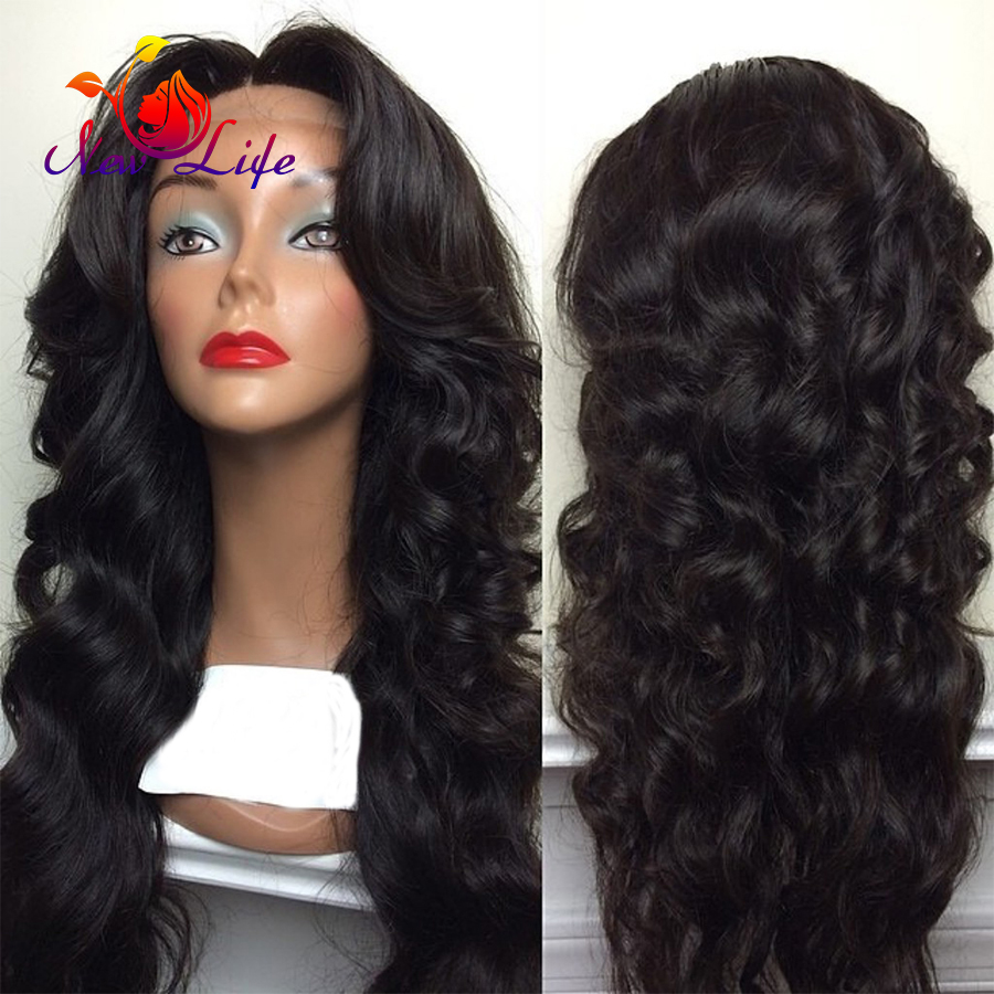 Long Hot Premium Natural Black Deep Wave With Baby Hair glueless heat resistant synthetic lace front wig For Women synthetic wig<br><br>Aliexpress