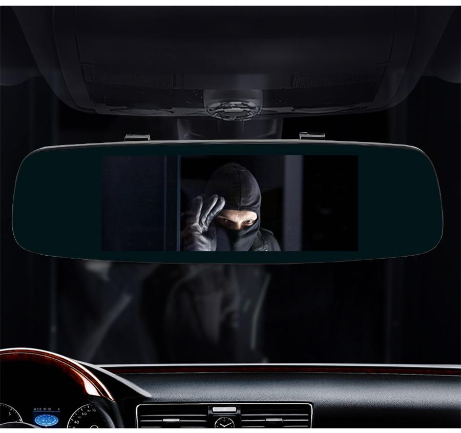 "Junsun 4G ADAS Car DVR Camera Digital Video recorder mirror 7.86"" Android 5.1 with two cameras dash cam Registrar black box 16GB 27"