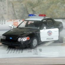 Brand New KT 1/42 Scale Car Toys Ford Crown Victoria Police Edition Diecast Metal Pull Back Car Model Toy For Gift/Kids