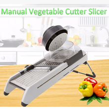 Manual Vegetable Cutter Slicer Kitchen Accessories Vegetable Fruit Peeler Dicer Cutter Chopper Nicer Grater(China)