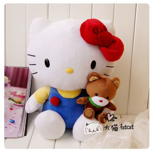 Free shipping hot super lovely classic cuddled teddy bear Kitty high-quality soft plush doll cushion pillow toy children gift<br><br>Aliexpress