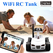 Dwi Dowellin RC Car Mini i-Spy RC Tank WiFi FTV Controlled by IPhone/iPad/Android/IOS Wifi Camera Remote Control Tank Toys Gift