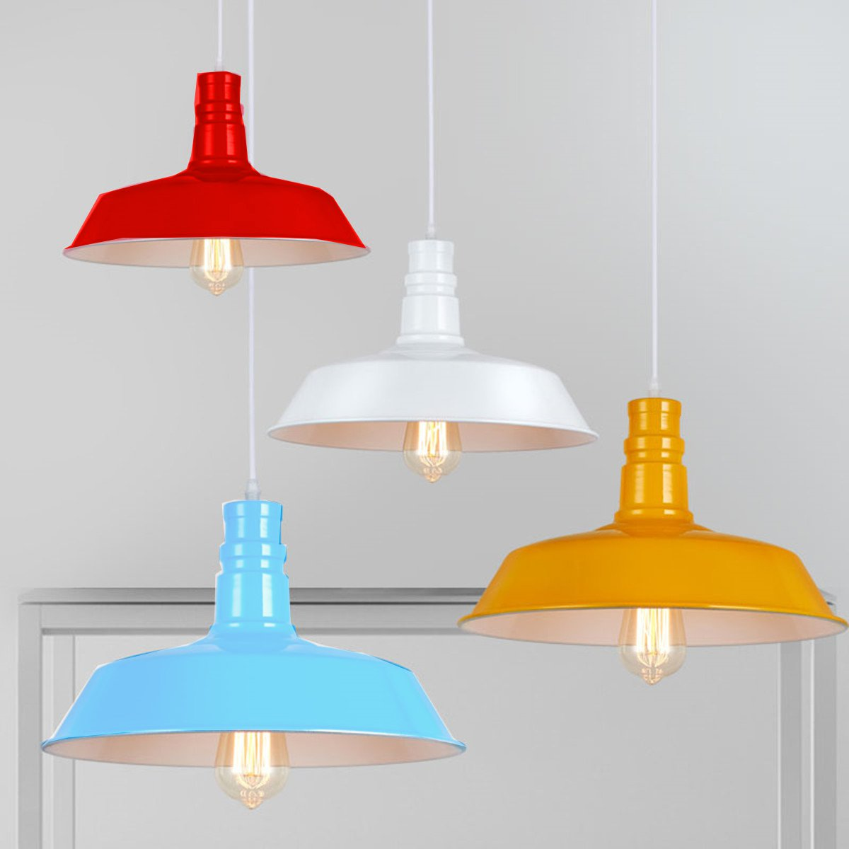 Modern Vintage Retro 36cm Iron Metal Lamp Fixture Pendant Light Lampshade Bar Coffee Shop Kitchen Fitting Lamp Cover<br>