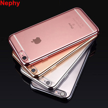 Nephy Brand Luxury Case For iPhone 7 5 6 S 5S SE 6S Plus 6plus 7plus Back Cover Ultrathin Silicon TPU Cell Phone Shell Casing(China)