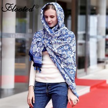 Geometric Scarves for Women Silk Hijab Scarf Luxury Brand Shawls and Wraps for Ladies Womens Fashion Printed Soft Warm Scarves(China)