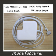 "Wellendorff New magsafe 2 60W 16.5V 3.65A T tip Laptop power adapter charger for apple Macbook pro 13"" A1435 A1465 A1425 A1502(China)"