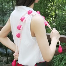 Plastic Multi-Effect Waist Shoulder Massage Roller Pull Back Device Body Relaxation Tool A2(China)