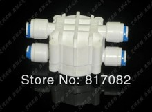 "On sale 1/4"" Hose quick connection Auto Shut Off 4 Way Valve For RO Reverse Osmosis Aquarium System(China)"