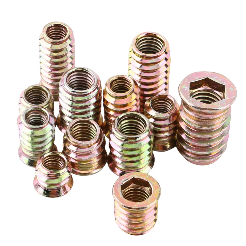 Pack de 20 tuercas de inserci/ón de madera para muebles de aleaci/ón de zinc M6//M8//M10